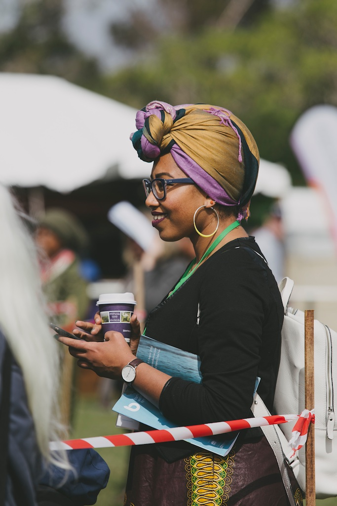 The impeccably dressed Yassmin Abdel-Magdied -pic Kate Holmes