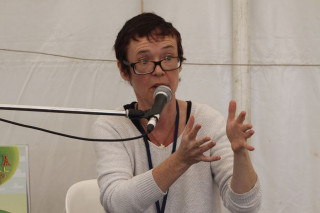 Roz Hopkins discusses the ins-and-outs of self-publishing at Byron Writers Festival 2016. Photo: SCU/Kaleb Smith