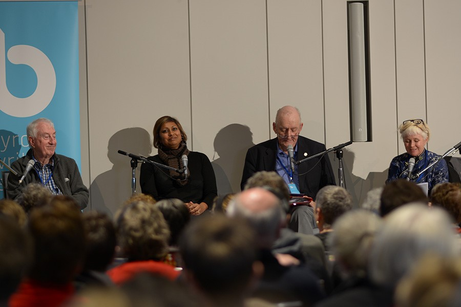 L to R: Peter Doherty, Indira Naidoo, Tim Fischer, Chair: Ashley Hay