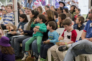 The audience at the Kids Big Day Out session at Byron Writers Festival 2016. Photo: SCU / Natalie Foord.