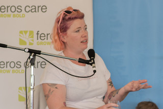 Clementine Ford discusses internet trolls. Pic: Natalie Foord